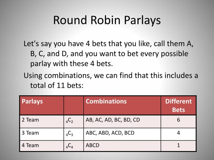Round Robin Parlays