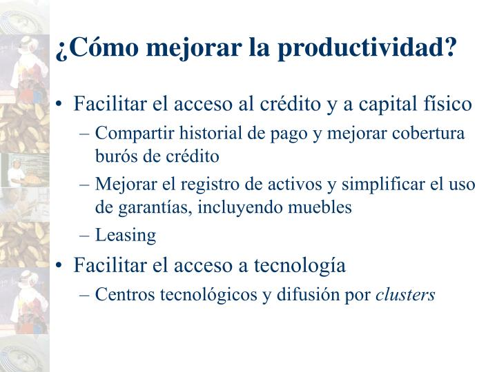 ¿Cómo mejorar la productividad?