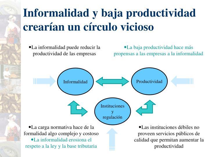 Informalidad y baja productividad crearían un c