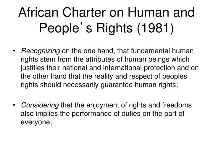 African Charter on Human and People