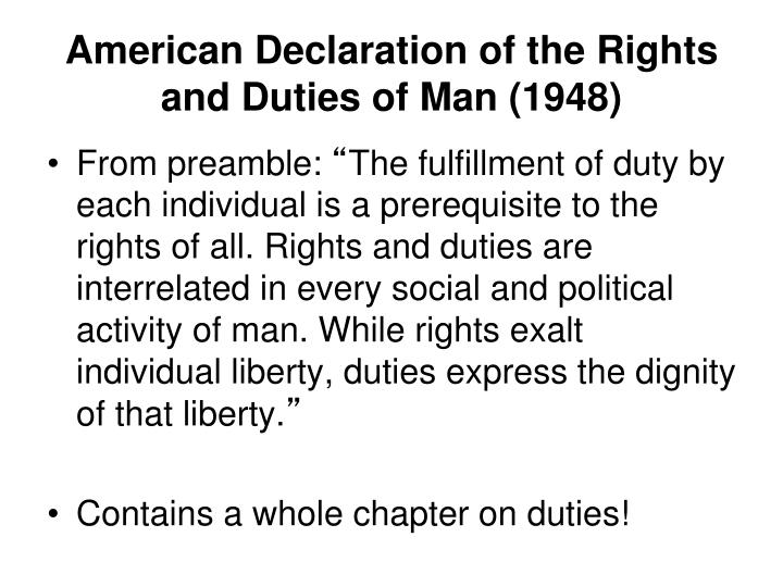 American Declaration of the Rights and Duties of Man (1948)