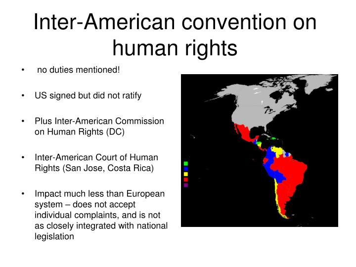 Inter-American convention on human rights