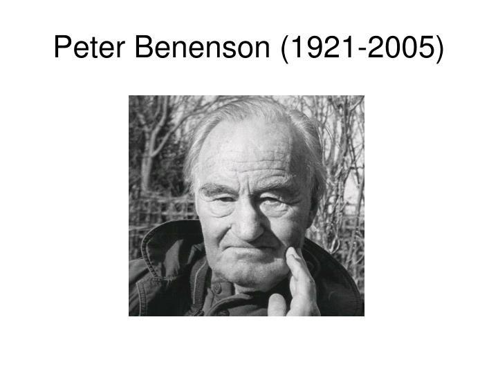 Peter Benenson (1921-2005)