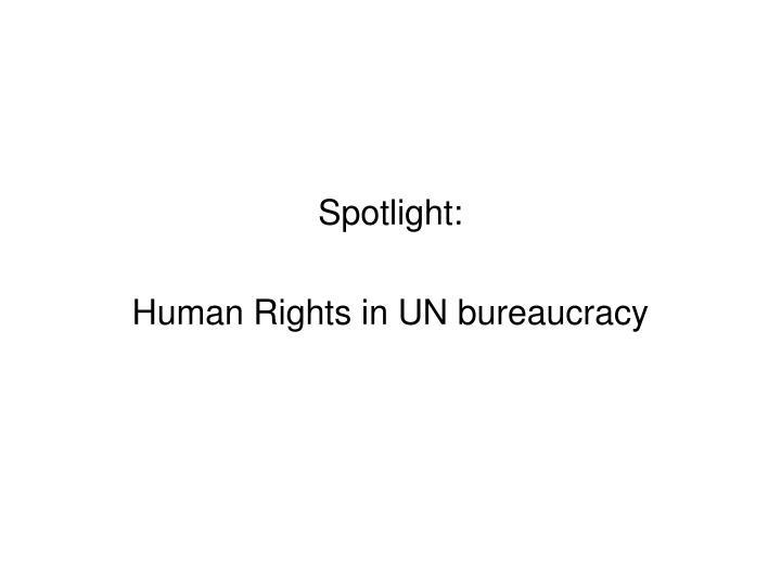 Spotlight:
