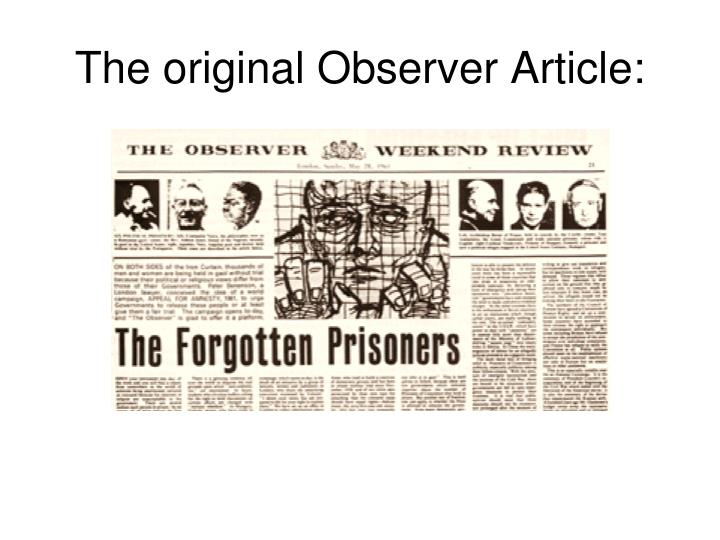 The original Observer Article:
