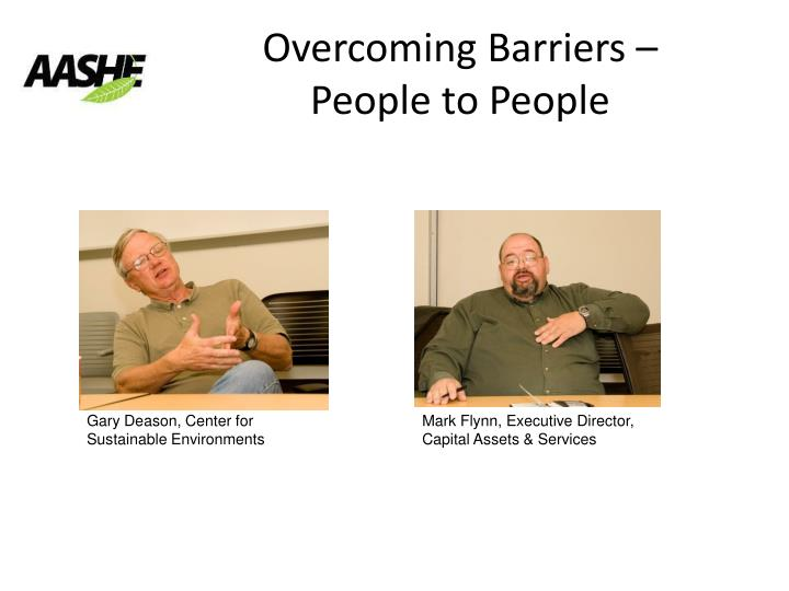 Overcoming Barriers –