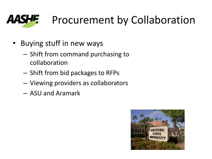 Procurement by Collaboration