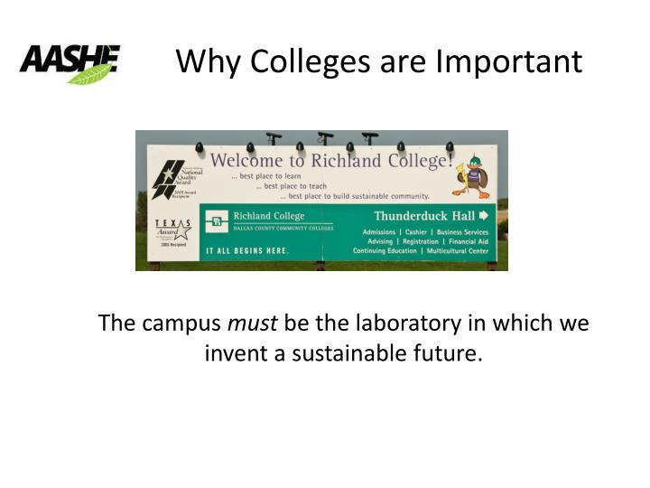 Why Colleges are Important