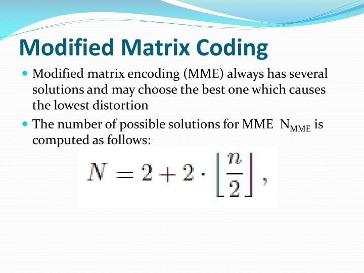 Modified Matrix Coding
