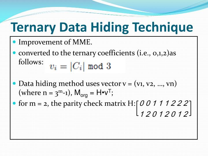 Ternary Data Hiding Technique
