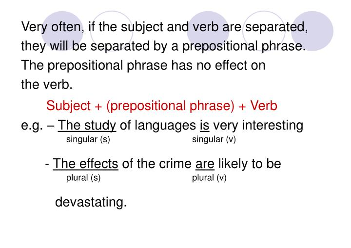 Very often, if the subject and verb are separated,