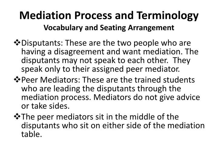 Mediation Process and Terminology