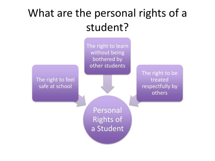 What are the personal rights of a student?