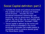social capital definition part 2