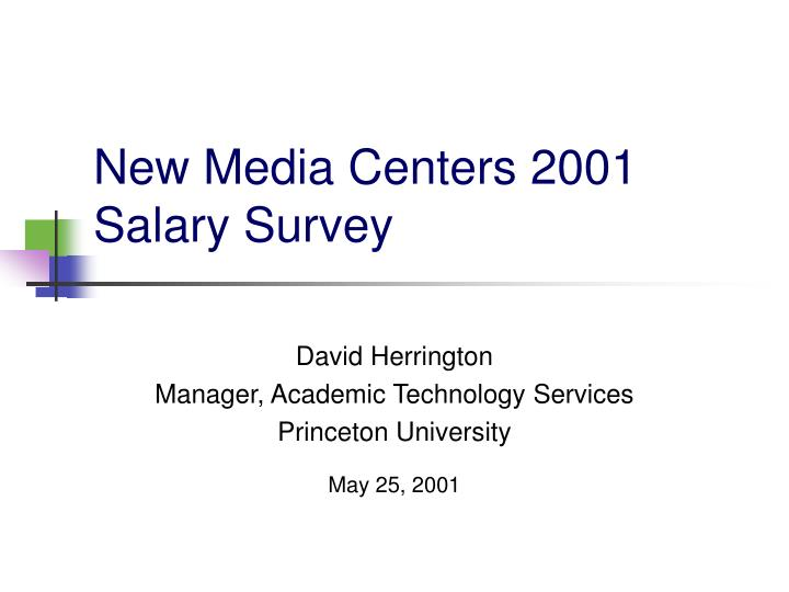 New media centers 2001 salary survey