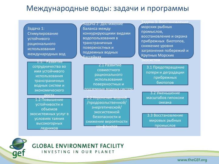 Международные воды: задачи и программы