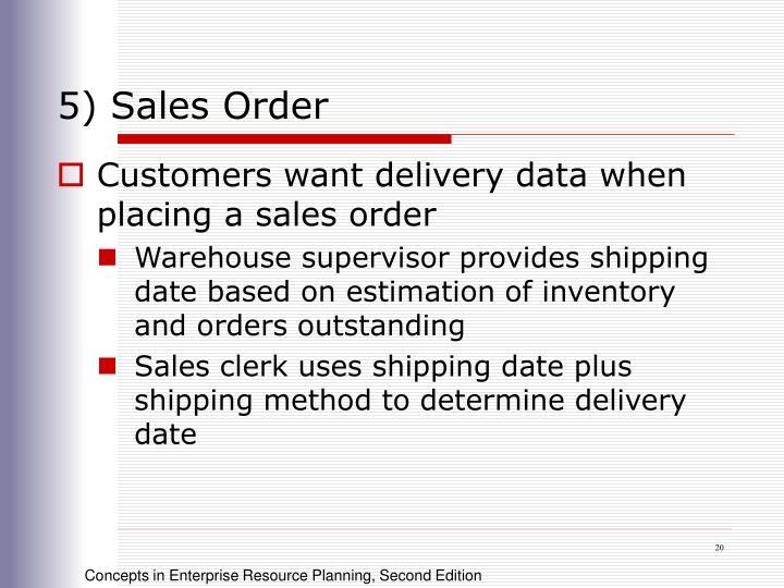 5) Sales Order