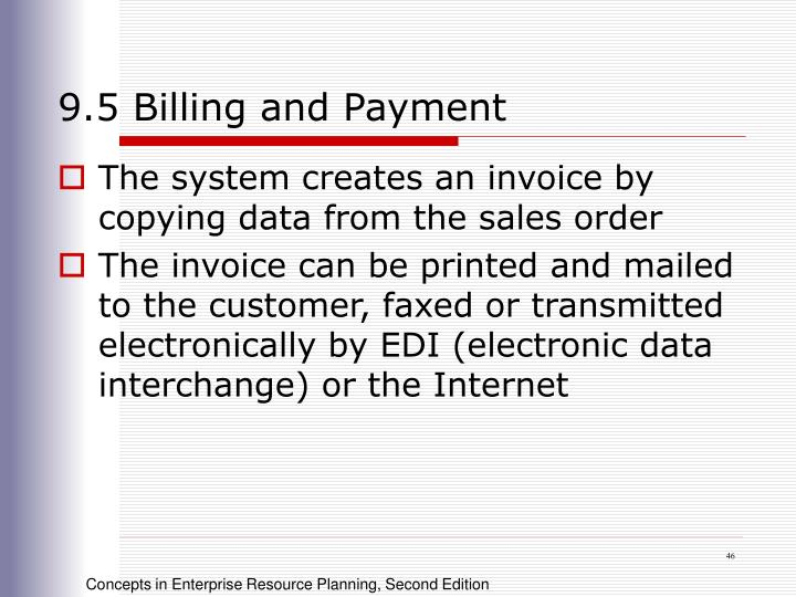 9.5 Billing and Payment