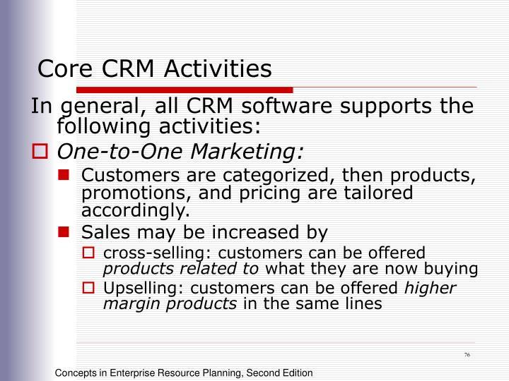 Core CRM Activities