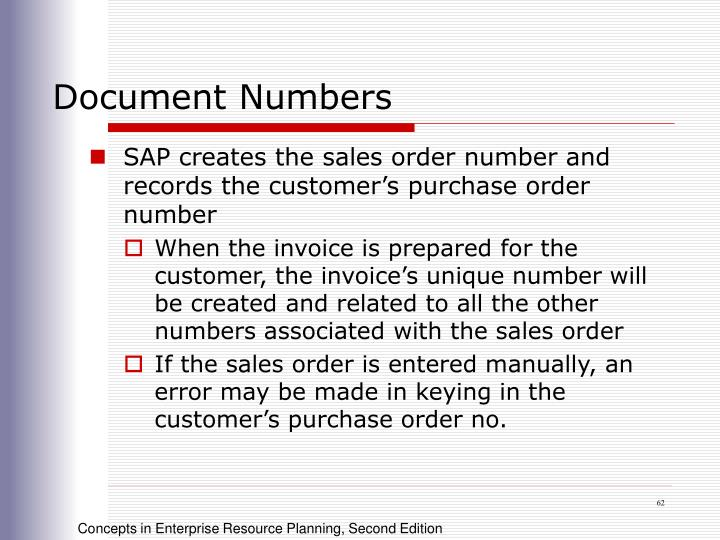Document Numbers