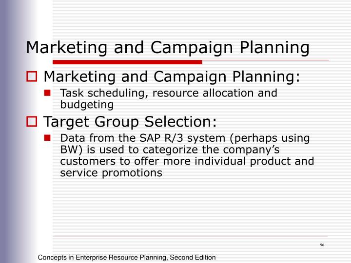 Marketing and Campaign Planning