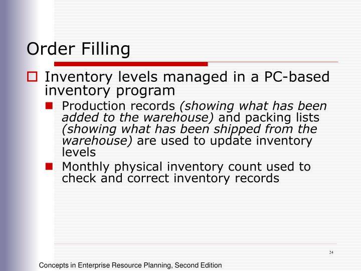 Order Filling