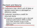 payment and returns