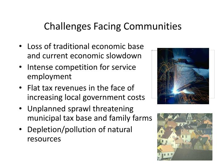 Challenges facing communities