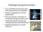 challenges facing communities