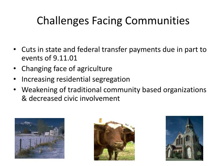 Challenges facing communities1