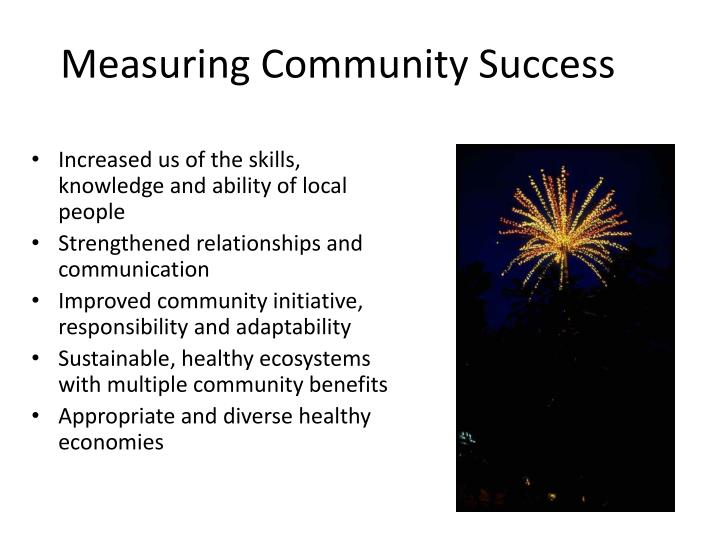 Measuring Community Success