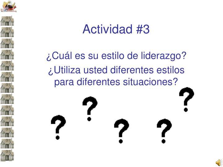 Actividad #3
