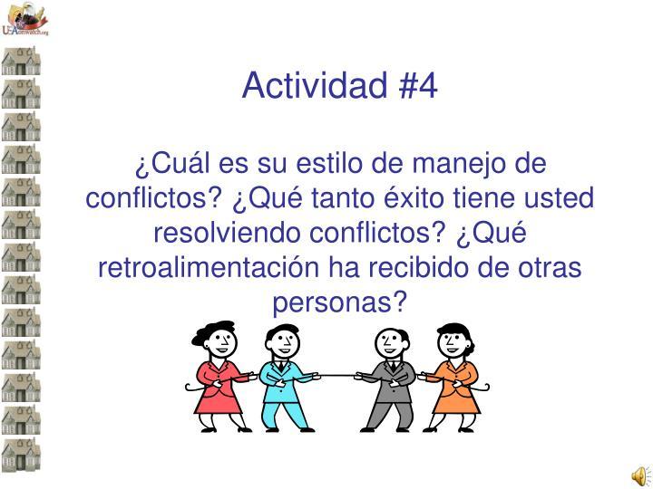 Actividad #4