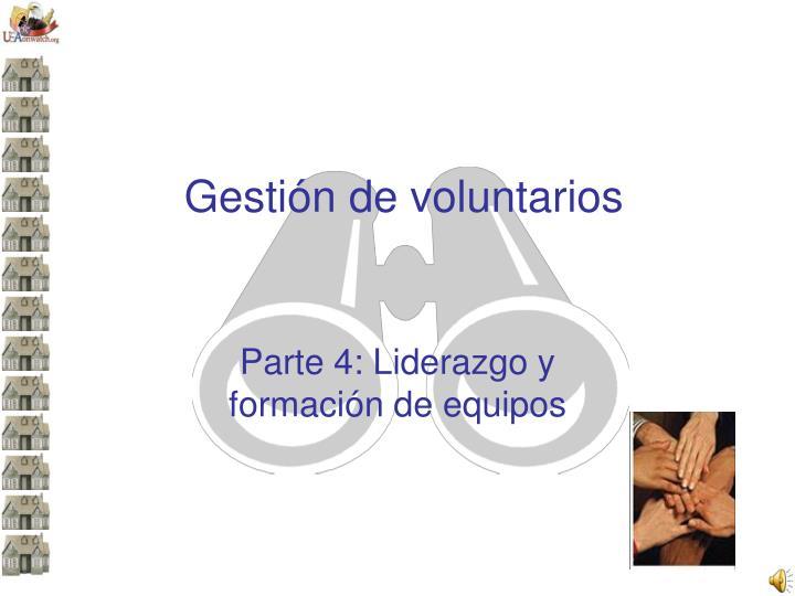 Gestión de voluntarios