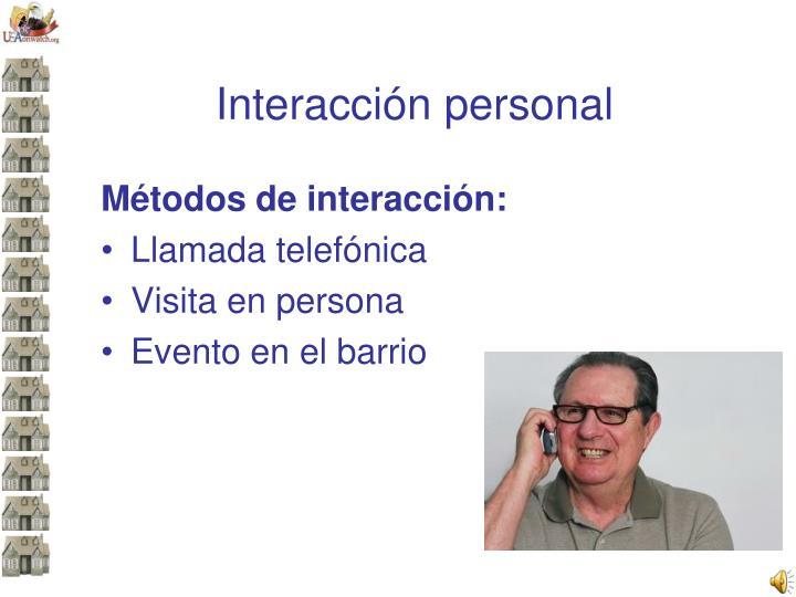 Interacción personal