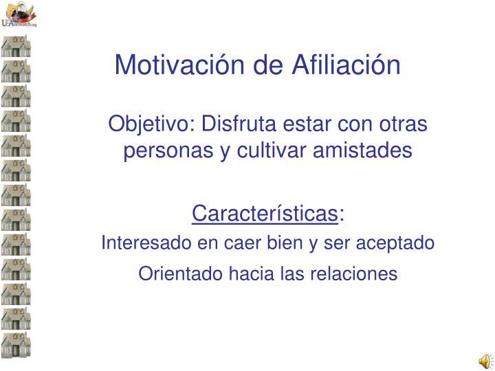 Motivación de Afiliación