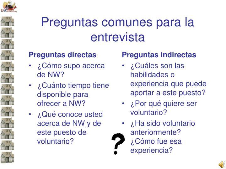 Preguntas directas