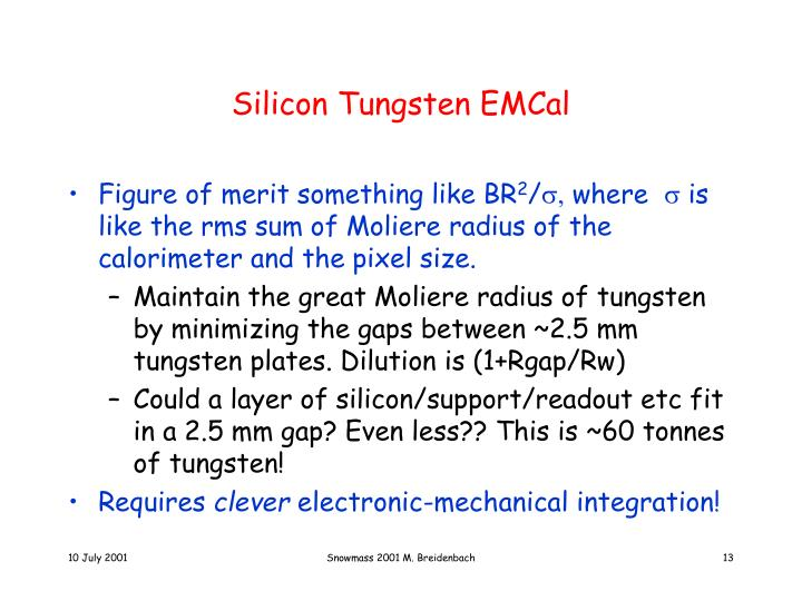 Silicon Tungsten EMCal
