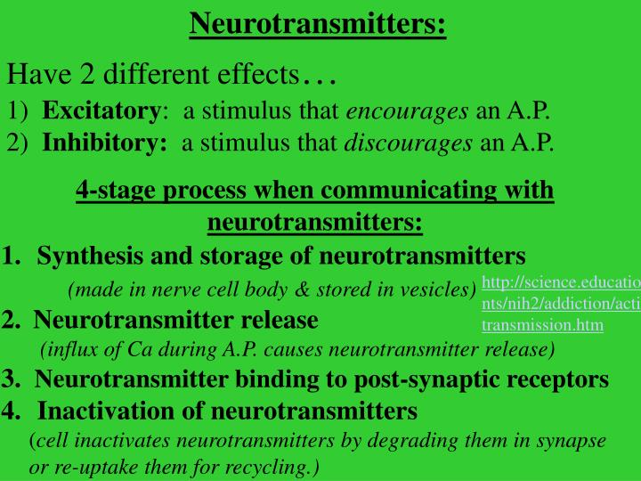 Neurotransmitters: