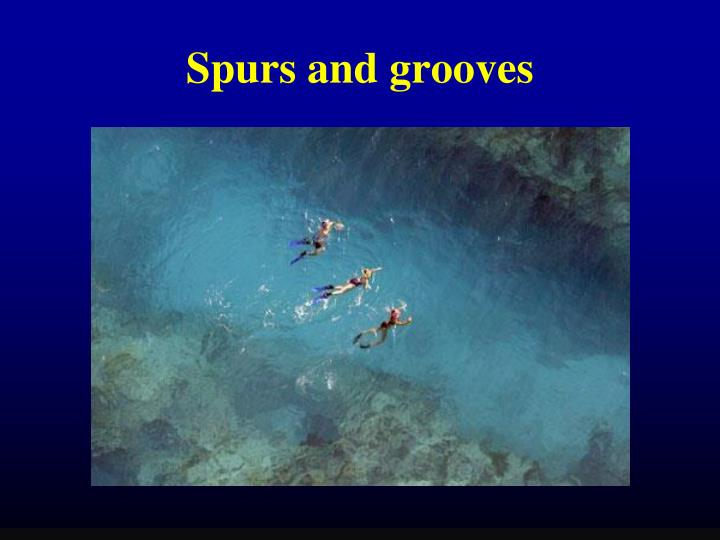 Spurs and grooves