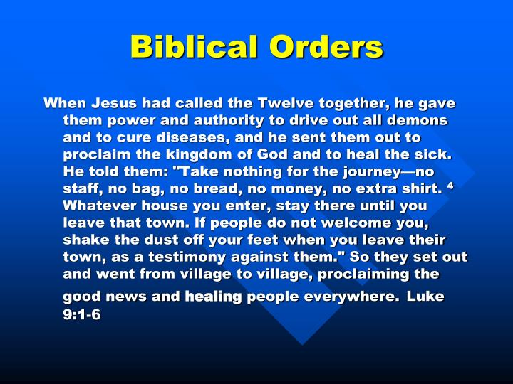 Biblical Orders