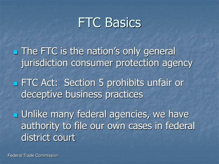 FTC Basics