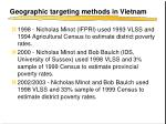 geographic targeting methods in vietnam1