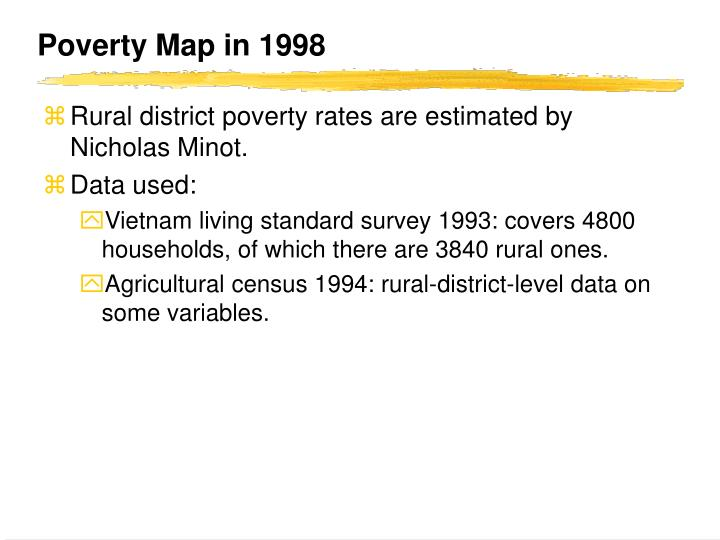 Poverty Map in 1998