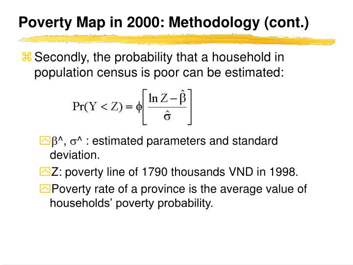 Poverty Map in 2000: Methodology (cont.)