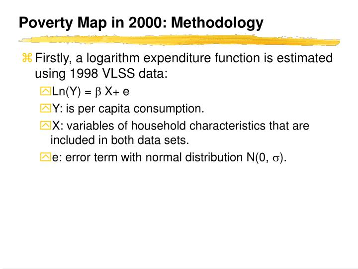 Poverty Map in 2000: Methodology