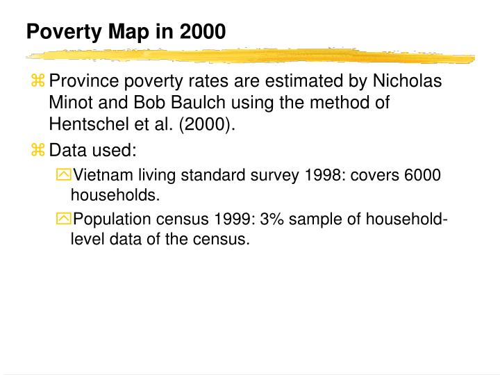 Poverty Map in 2000