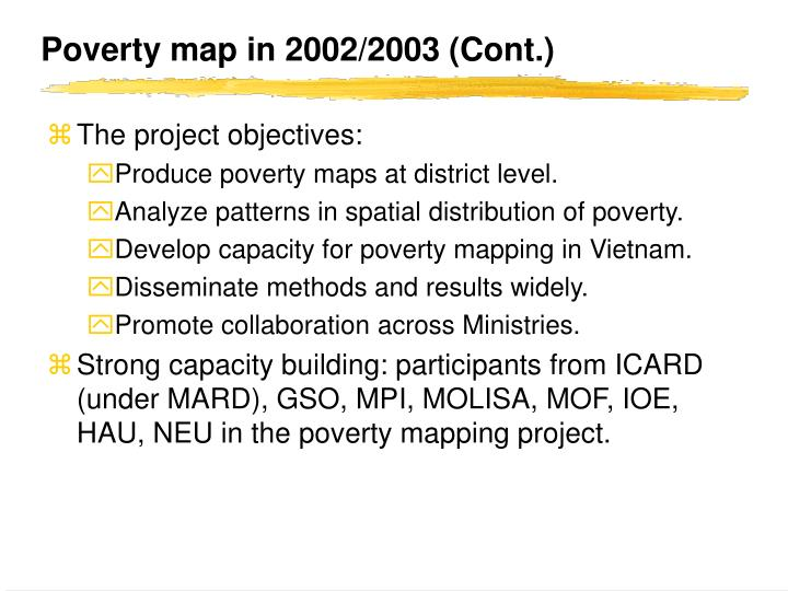 Poverty map in 2002/2003 (Cont.)