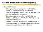 use and impact of poverty maps cont1