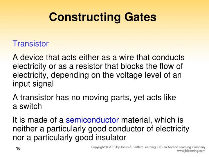 Constructing Gates